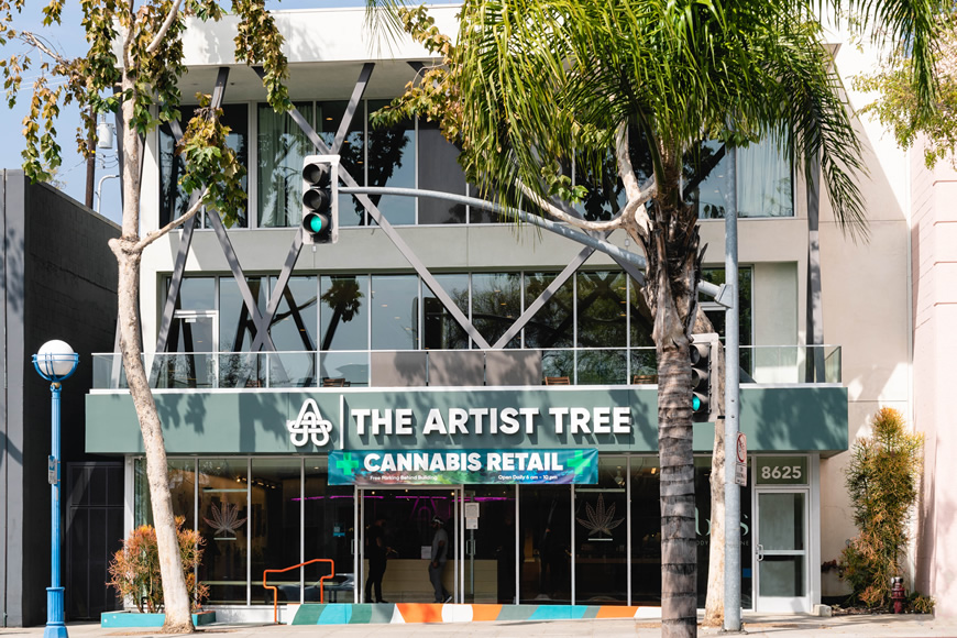 The Artist Tree Dispensary in West Hollywood